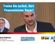 Dr. Rainer Podeswa: Treten Sie zurück, Herr Finanzminister Bayaz!