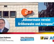 Dr. Rainer Podeswa: Böhmermann vereint Größenwahn und Arroganz