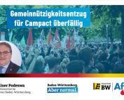 Dr. Rainer Podeswa: Gemeinnützigkeitsentzug für Campact überfällig