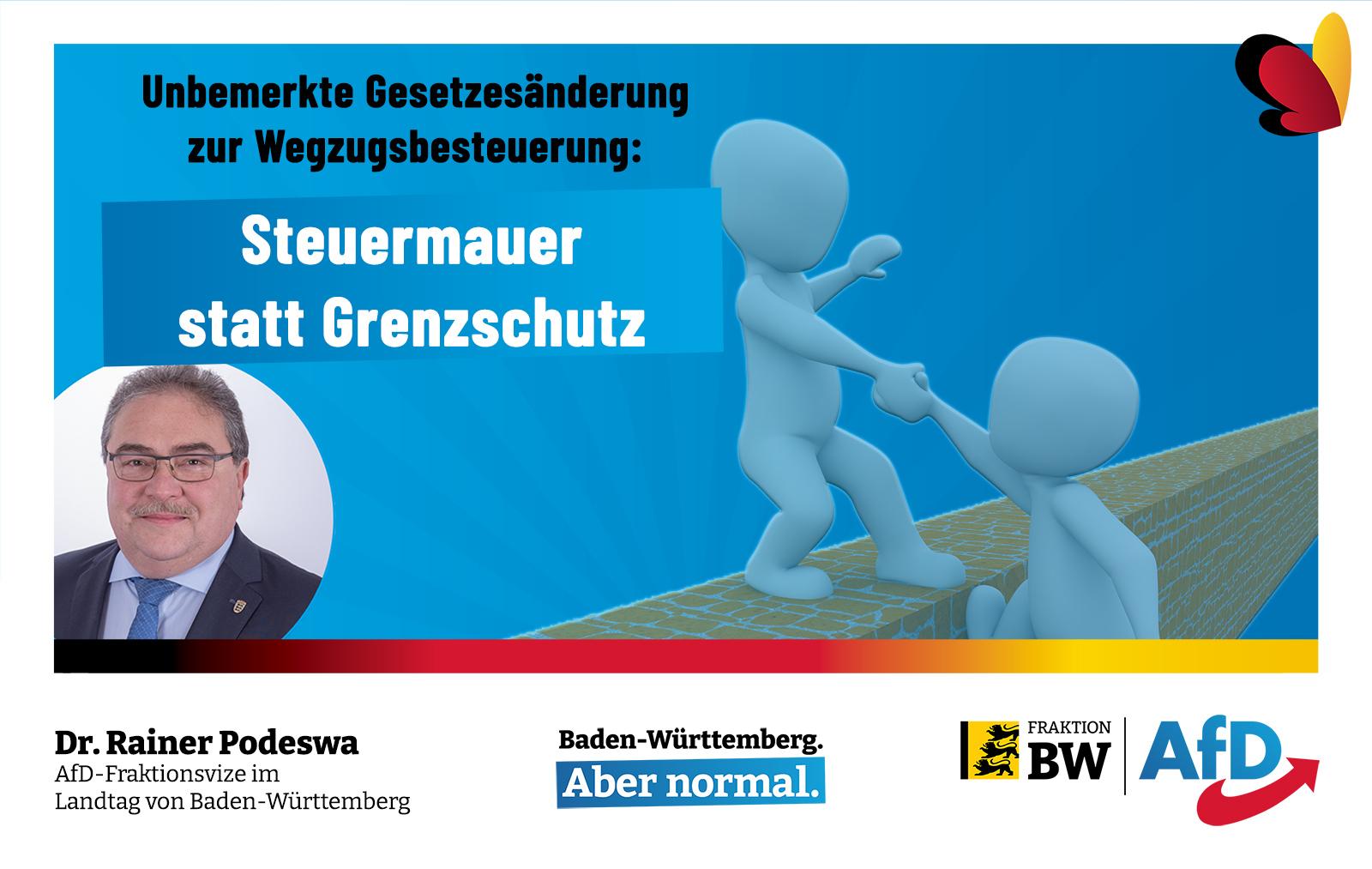 Dr. Rainer Podeswa: CDU errichtet Steuermauer um Deutschland